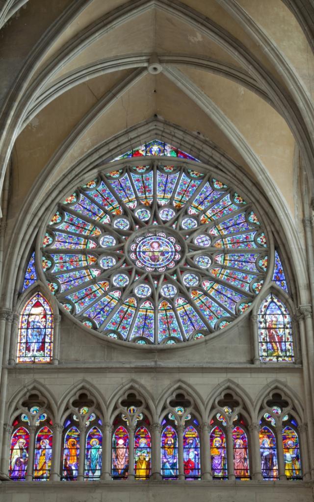 Magnifiques Vitraux Cathedrale Saint Etienne Chalons © Jean Côme Nicolle